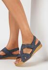 Granatowe Sandały Aquitune