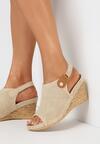 Beżowe Sandały Thene
