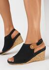 Czarne Sandały Thene