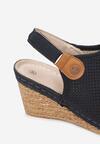 Granatowe Sandały Thene