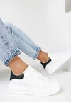 Biało-Czarne Matowe Sneakersy Leuconome