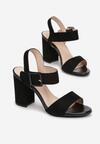Czarne Sandały Adophaia