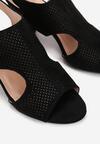 Czarne Sandały Chalophe