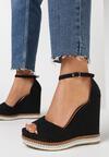 Czarne Sandały Alethrypso