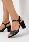 Czarne Sandały Misenia