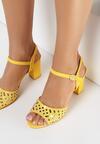 Żółte Sandały Misenia