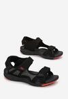 Czarno-Czerwone Sandały Nepheshi