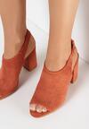Pomarańczowe Sandały Theisessei