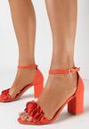 Pomarańczowe Sandały Meniphice