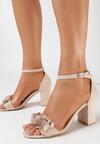 Beżowe Sandały Meniphice