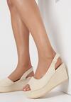 Beżowe Sandały Pasophis