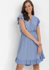 Niebieska Sukienka Vylnihr