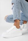Biało-Srebrne Sneakersy akersy Leuconome