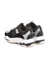 Czarne Wężowe Sneakersy Anaphalis