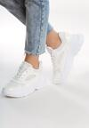 Białe Lakierowane Sneakersy Lay Into