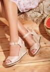 Beżowe Sandały Increase Knowledge