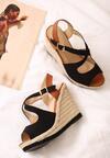 Czarne Sandały Pushover