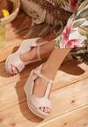 Beżowe Sandały Praised