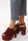 Ciemnoczerwone Sandały Traditionally
