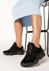Czarne Sneakersy Clear Off