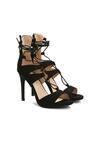 Czarne Sandały Rome