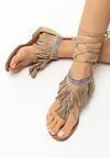 Beżowe Sandały Ergen