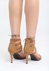 Ciemnobeżowe Sandały Puerta