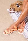 Pomarańczowe Sandały Vertex