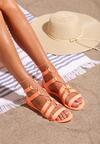 Pomarańczowe Sandały Rosies