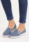 Granatowe Slip On Naris