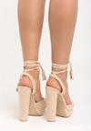 Beżowe Sandały Carion