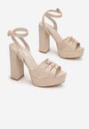 Beżowe Sandały Fallon