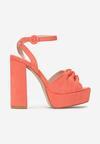Pomarańczowe Sandały Fallon