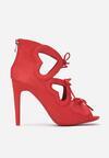 Czerwone Sandały Valentine