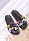 Czarne Klapki Colourful Dots