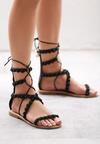 Czarne Sandały Passionate