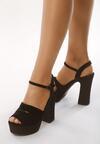 Czarne Sandały Ambrosia