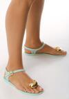 Miętowe Sandały Twinkle