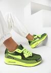 Lime Green Neonowe Buty Sportowe Candy