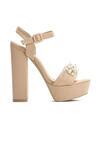 Beżowe Sandały Pearls Design