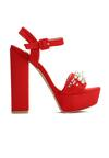 Czerwone Sandały Pearls Design