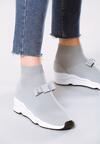Jasnoszare Buty Sportowe Bobby Socks