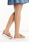 Beżowe Sandały Shorties