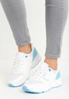 Biało-Niebieskie Buty Sportowe Gymnast