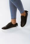 Czarne Buty Sportowe Sparkling Bowknot