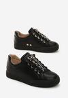 Czarne Buty Sportowe Zip-On