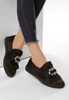 Czarne Slip On Never Too Late