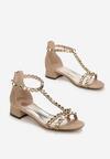 Beżowe Sandały Shrewdness