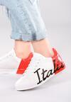 Biało-Czerwone Buty Sportowe Girls Go Bad