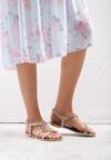 Beżowe Sandały Nosegay